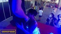 Ebony pornstar blowjob and fuck on stage