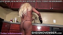 Msnovember Get Butt Ass Naked In Hot Kitchen Spreading Her Blackass And Shaking Blackboobs to cool off on Sheisnovember