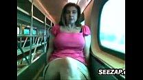 Fooling Around In Public On A Train pornhub video