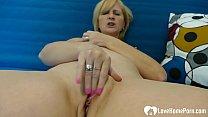 Sexy mature blonde babe really enjoys masturbating