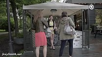 Jeny Smith public flasher shares great upskirt views on the streets Preview