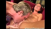 She gets her pussy licked until orgasm image