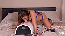 A Wild Ride - Brunette Babe Goes Solo With the Sybian