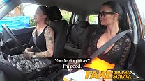 6407 Fake Driving School Sexy strap on fun for new big tits driver preview