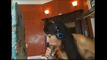 Babe riding a huge dildo cream on cam - xxcam.net