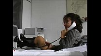 Sexy secretary in a warehouse brutally fucked by workers! - 69VClub.Com