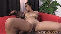 Katrina Jade Takes A Black Cock On A Massage Table thumbnail