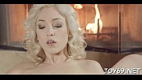 Hottie rubs vagina craving for sex