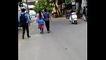 Inter Kavitha hot back.. Hyderabad