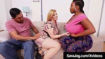 PAWG Mommy Sara Jay Milks A Cock With Black BBW...