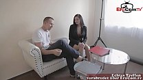 german secretary business milf visit client and fuck him
