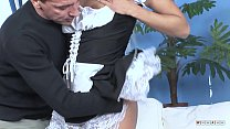 French Maid Fucked by the Perv Boss and Cumshooted