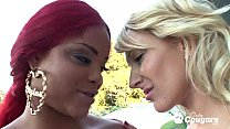 Busty Black Chick Lavish Styles Eats Out Her Little White Girlfriend