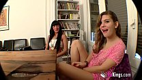 Anal sex class with Yolanda and Sol. Dirty teacher, dirty student