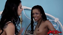 Hotties Gina Valentina and Kira Noir going anal with strapon