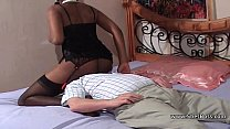 Faceful of black pussy for older white gent thumbnail