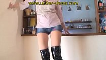 Extreme high heels kneeboots trample with our New Model Miss Sybille