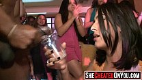 18 Hot milfs at cfnm party caught cheating