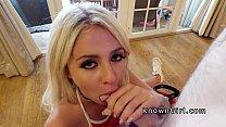 really big dick - amateur girlfriend deep throats pov in sex tape thumbnail