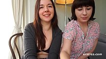 Lovely Amateurs Kriss and Lea Have Romantic Interlude