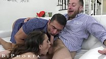 BiPhoria - Stranded Guy Saved By Bisexual Couple