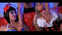 Jessica Jaymes  And Nina Elle Fucked In Threes ucked In Threesome
