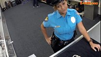 Huge boobs police officer fucked at the pawnshop for money thumbnail