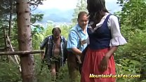 hot chocolade babe fucked in the mountains