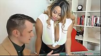 Busty British BBW Superstar Shanice Richards Rides Big White Cock