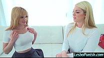 Sex Toys Punish Action Between Horny Lesbian Girls (Jayme Langford & Jenna Ashley) vid-17