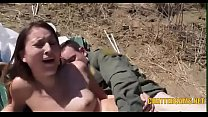 Latina Teen Outdoors Public Facial