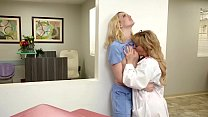 Doctor and her hot lesbian receptionist - Cherie DeVille and Kenna James