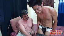 Homo Daddy barebacks Exotic youngster after blowjob