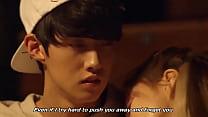 Korean Boy and Girl Cuddling in Practice Room (...