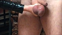Ballbusting: Mistress Natasha Poole destroys the testicles of Andrea Diprè