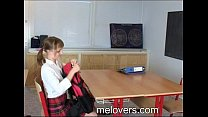 Sian And Hery barely legal teens sex in school classroom 32
