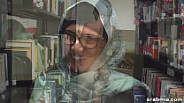 Mia Khalifa Takes Off Hijab and Clothes in Library (mk13825)