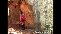 Gang bang sex in cave where lucky girl pornhub video