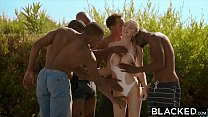BLACKED Kendra Sunderland BBC interracial GANGBANG!! preview image