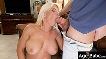 Tiffany Rousso is a big tittied mature woman who rides and bounces on Raul's meaty cock