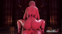 ANIMATED BLONDE CERENE TAKES HUGE COCK IN ALL HOLES Image