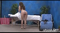 Nice-looking sexy gets naked for her raunchy massage