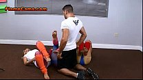 Three Babes In Legwarmers Give Footjob thumbnail