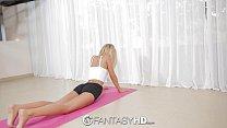 FantasyHD - Lola Reve tries some double penetration yoga thumbnail