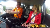 Fake Driving School Blonde busty Polish tight pussy fucked after lesson Image