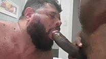 Sucking Negão's black pirocone