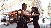 Teen walked in Budapest market video
