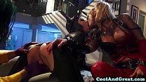 Catwoman pussyfucked in trio by joker Image