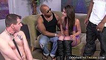Giselle Leon Takes Two Black Cocks - Cuckold Sessions thumbnail