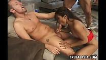 Busty Asian Thai slut gets to be duble penetrated hard